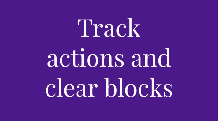blocks to actions